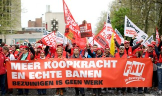 FNV bij Europese demonstratie in Brussel - Sebastiaan ter Burg