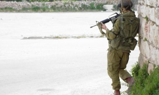 Israeli soldier -- Hebron, West Bank - Joel Carillet