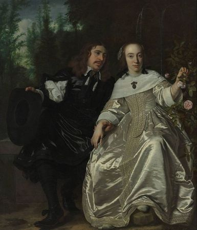 cc commons.wikimedia.org Portrait of Abraham del Court and his wife Maria de Keerssegieter Bartholomeus van der Helst