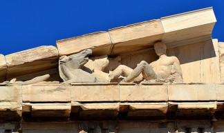 East pediment, Parthenon, south corner, June 2012 - Stelios ZACHARIAS