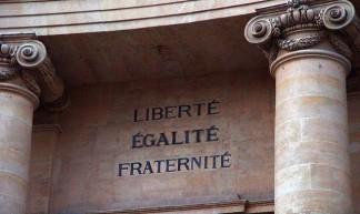 """Liberte - Egalite - Fraternite"" = Liberty, equality, fraternity (brotherhood) - Tilemahos Efthimiadis"