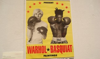 Warhol-Basquiat promo poster - Hard Seat Sleeper