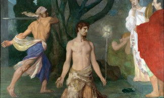 Pierre-Cecille Puvis de Chavannes - The Beheading of Saint John the Baptist [c.1869] - Gandalf's Gallery