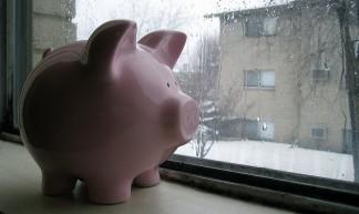 Piggy Bank Awaits the Spring - Philip Brewer