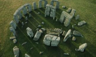 An aerial view of Stonehenge, Wiltshire, England- - Szecska