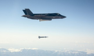 F-35 Lightning Drops a Paveway II Laser Guided Bomb - UK Ministry of Defence
