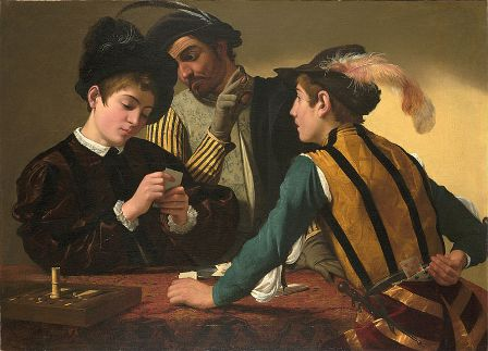 cc commons.wikimedia.org Caravaggio The Cardsharps