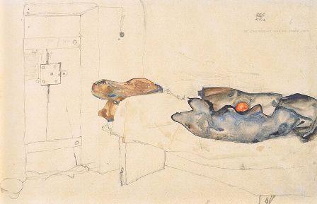 cc commons.wikimedia.org  Egon Schiele - Die eine Orange war das einzige Licht19-4-1912