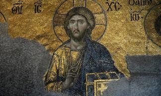 Mosaic icon of Christ, AyaSofya, Istanbul - Alain