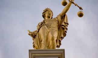 Golden Lady Justice, Bruges, Belgium - Emmanuel Huybrechts