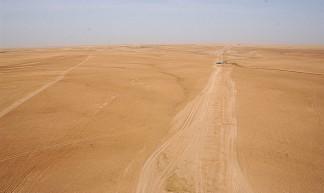 Desert tracks (which appear as roads on Iraqi maps), Al Anbar Province, Iraq - James Gordon