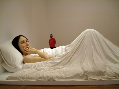 cc Flickr Mark & Stephanie Denman photostream Ron Mueck  Woman in Bed