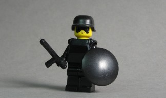 Riot Police with BrickForge Nightstick - Andrew Becraft