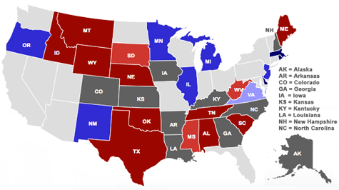 Battleground states in de Midterm Elections 2014