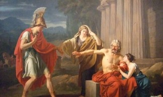 Oedipus at Colonus by Jean-Antoine-Theodore Giroust 1788 French Oil (5) - Mary Harrsch