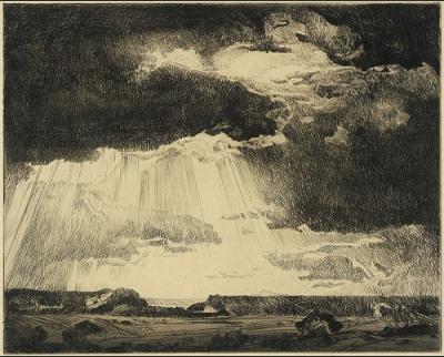 cc Flickr Smithsonian American Art Museum Carl Oscar Borg, Under Western Skies, 1934