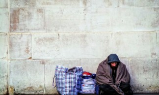 Homeless by a Wall - Garry Knight
