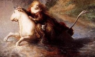De roof van Europa (detail), Rembrandt van Rijn