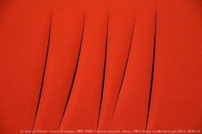 cc Flickr Renaud Camus photostream Le Jour ni l'Heure 5351 Lucio Fontana, 1899-1968, Concetto spaziale, 1963
