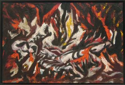 cc Flickr Sharon Mollerus photostream  Jackson Pollock, The Flame, c. 1934-38