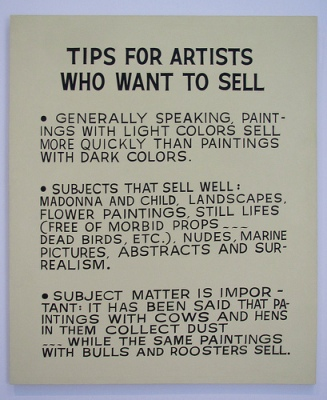 cc Flickr rocor photostream John Baldessari Tips for Artists Who Want to Sell, 1966.