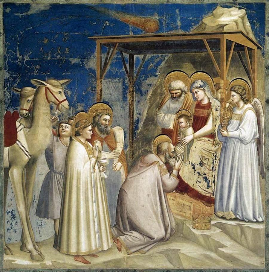 Giotto, De aanbidding der wijzen