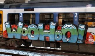 graffiti trein Hollands Spoor - Gerard Stolk