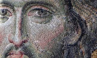 Christ's face (close), Deësis mosaic, Hagia Sophia - Steven Zucker