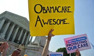 Obamacare on the steps of the Supreme Court - Will O'Neill