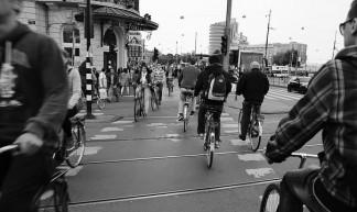 Bikes crossing Amsterdam - schermpeter42