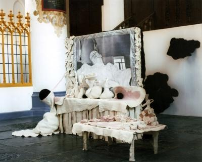 © Mieke Marx – Installatie in de der Aa-kerk, Groningen, i.s.m. Martin Fenne