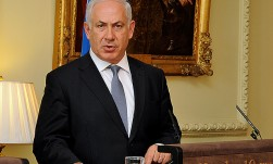 Benjamin Netanyahu at press conference - Downing Street