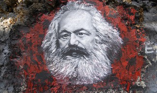 Karl Marx, painted portrait _DDC2787 - thierry ehrmann