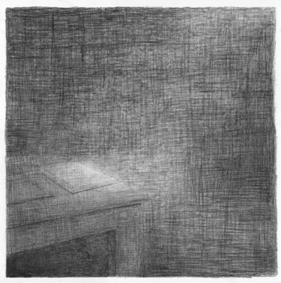 © Florette Dijkstra. De werkkamer van Charles Baudelaire, potlood op papier, 2011-14