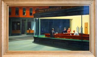 Art Institute of Chicago: Nighthawks by Edward Hopper - Bert Kaufmann