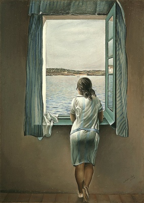 cc Flickr Gandalf's Gallery photostream Salvador Dali - Woman at the Window 1925