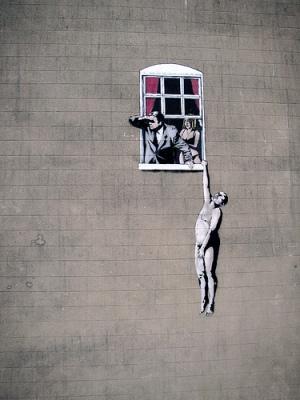 cc Flickr Matt Gibson photostream Banksy Window 1