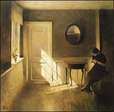 cc Flickr Plum leaves photostream  Peter Ilsted Girl Reading a Letter in an Interior 1908