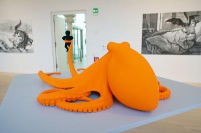 cc Flickr Otomodachi photostream Orange octopus by Katharina Fritsch