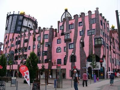 cc Flickr johnsam photostream Hundertwasser Haus (1) Hundertwasser house of Magdeburg  Grüne Zitadelle Magdeburg