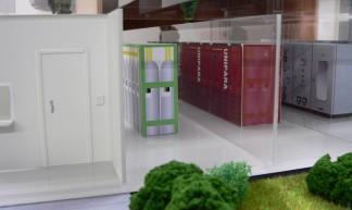 Hitachi Green Datacenter Model First Floor Zoom - Hitachi Data Systems Corp