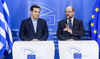 Press Point President Schulz and PM Tsipras - Martin Schulz