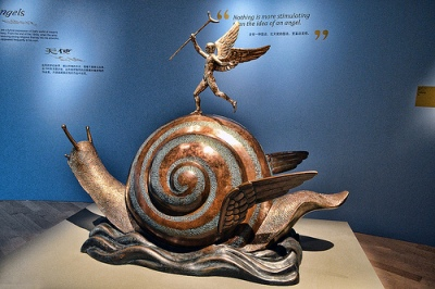 cc Flickr Choo Yut Shing photostream Snail and the Angel Bronze sculptures by Dali