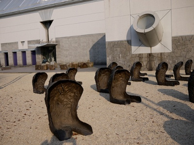 cc Flickr GetHiroshima photostream Space of Becalmed Beings Magdalena Abakanowicz