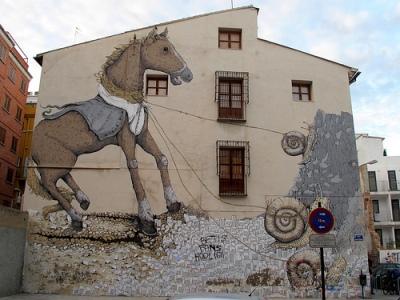cc Flickr duncan c Valencia graffiti, Erica il Cane