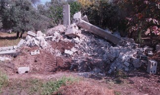 A shed demolished by Israeli army, West Bank - http://maailma.net