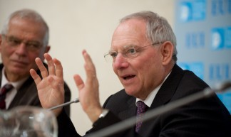 Wolfgang Schauble debating Europe at the EUI - European University Institute