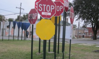 Galvez St Louis Stop Sign Grove 2 - Infrogmation of New Orleans