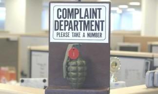 complaint department - please take a number (grenade) - Rev. Xanatos Satanicos Bombasticos (ClintJCL)