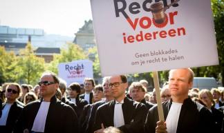 Protest 'Recht voor iedereen' Plein Den Haag - SP